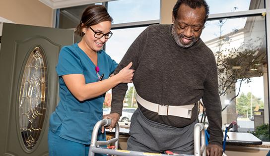 A person receiving short term physical rehabilitation services in Nashville, TN